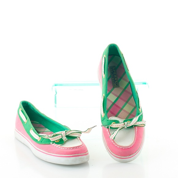 Sperry Top-Sider Hailey Bow Detail Boat Shoes Pink